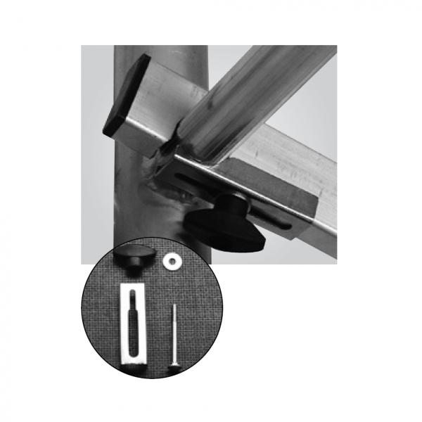 Krause ClimTec Alu Fahrger/üste Gel/änder-Diagonalstrebe mit Sicherungs-Set
